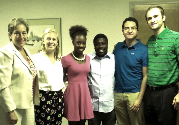 interns at community foundation 7.29.14wb