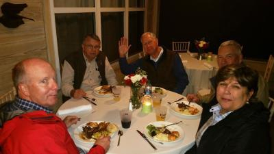 Board Dinner Sandi and Rocker Channell Jack Kilgore Greg Post Lloyd Newberry